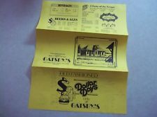 1984 GATSBY'S Cafe Restaurant Menu Mentor OHIO Oh. Bar Tavern Dining Train Depot