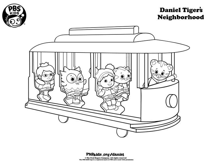 Daniel Tiger Coloring Pages - http://www.pbs.org/parents/birthday-parties/daniel-tiger-birthday-party/activities/daniel-tiger-coloring-pages/