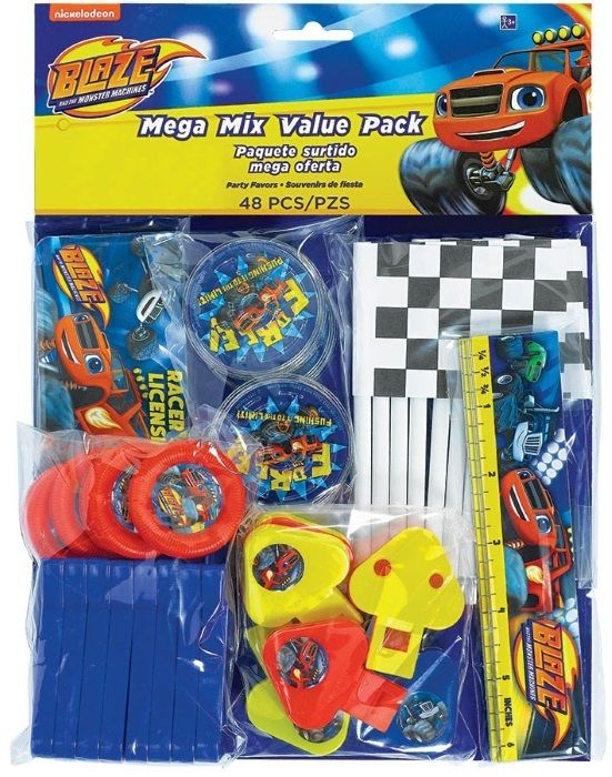 Blaze Party Favours Set   Monster Trucks Party Products   Birthday Party Loot Bag Fillers