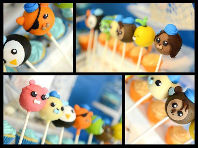 Cake pops at a Octonauts party #octonauts #cakepops