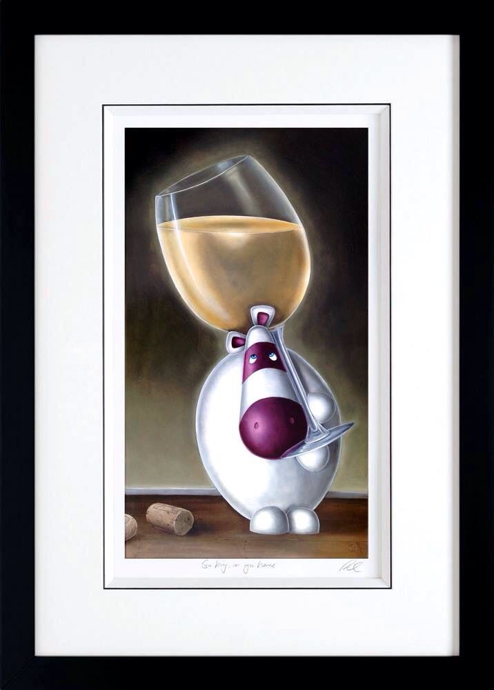 'Go Big Or Go Home' one of the new 2015 Impossimal releases. #wine #art #impossimals #drink #humour