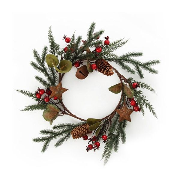 Small Rustic Pine Christmas Wreath