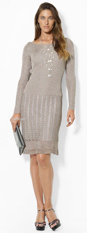 Lauren Metallic Boatneck Dress
