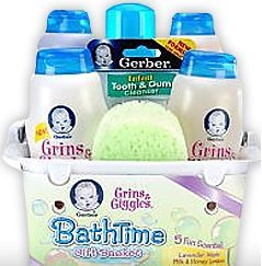 Free Samples  - You can request a free Gerber Baby Bath Set sample. Gerber is the name well-known to moms and dads all over the world as one of the leading manufacturers of babies and toddlers oriented products like food and care items. With this offer yo