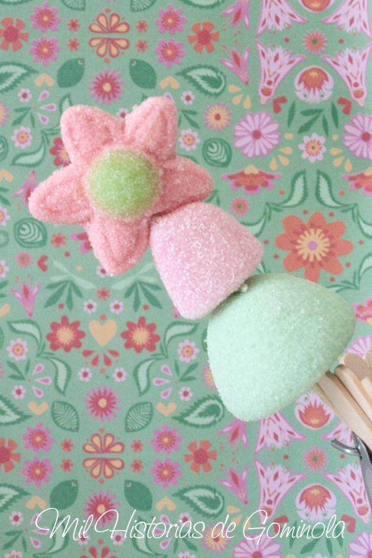 Brochetas con 3 chuches ideales para decorar un cumpleaños, comunión o boda. Se entregan en bolsas individuales de celofán y etiquetadas.