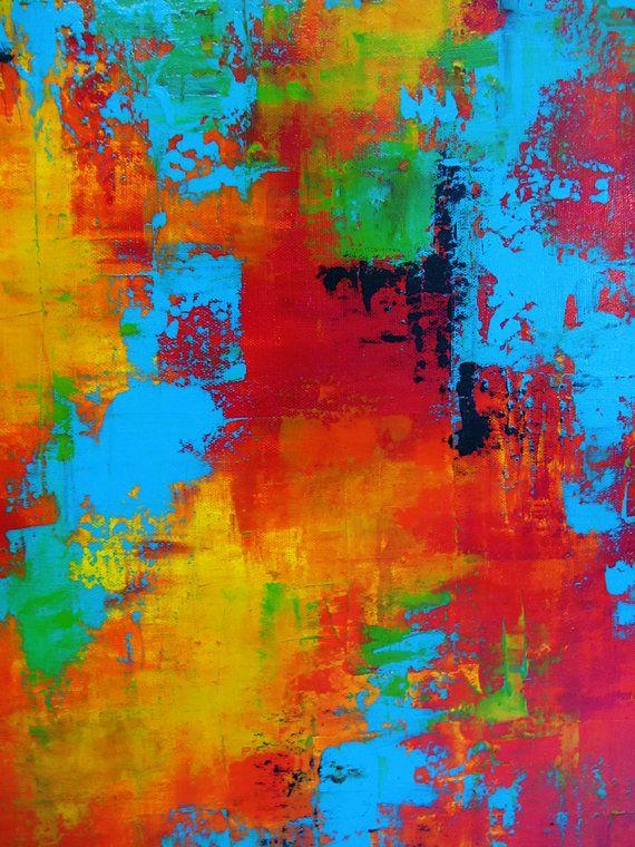 Carousel 8 24 x 36 Abstract Acrylic por CharlensAbstracts en Etsy