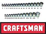 Craftsman 30 Piece 3/8 Drive 6 Point Socket Set