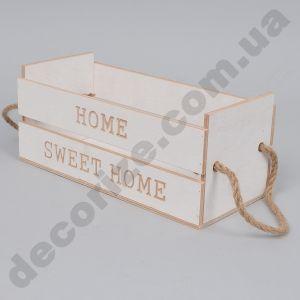 ящик деревянный home sweet home белый