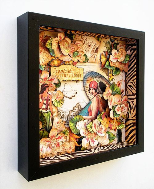 Tropical Travelogue shadow box by Cantone Cantone Cantone Nadal Bvo u0026 Cat Curio Product Used paper u0026 frame & 64 best Ikea Ribba shadow boxes images on Pinterest | Shadow box ... Aboutintivar.Com