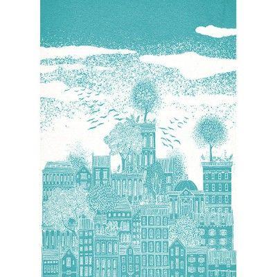 lino print of edinburgh - Google Search