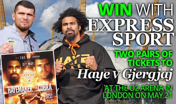 Comp: Win tickets to David Haye v Arnold Gjergjaj at the O2 Arena on May 21