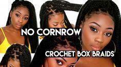 No Cornrows Crochet Box Braids | DIY 2 Hours + Beg…