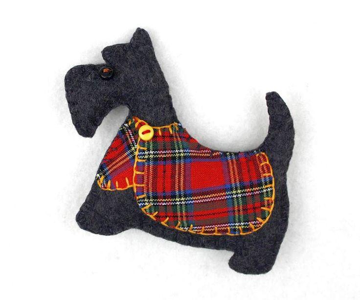Scottish Red Tartan Scottie Dog with Bow Clip on Charm rb3uV3zl