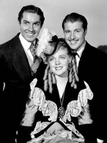 Tyrone Power, Alice Faye & Don Ameche in In Old Chicago (Henry King, 1937).