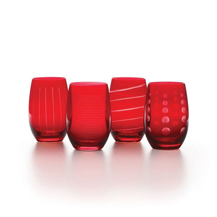 Cheers Ruby Set of 4 Stemless Wine Glasses online at Mikasa.com