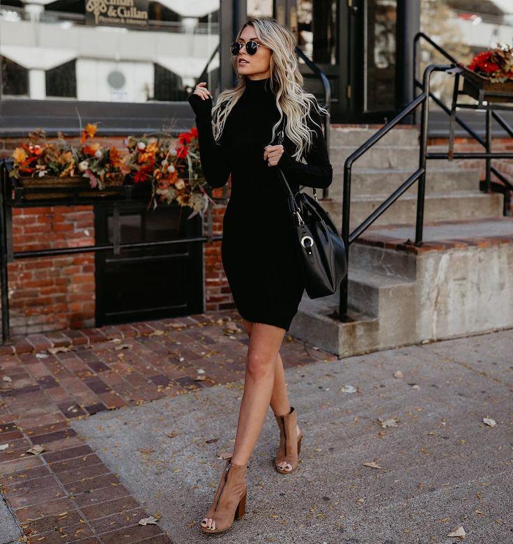 #fall #outfits black pencil dress