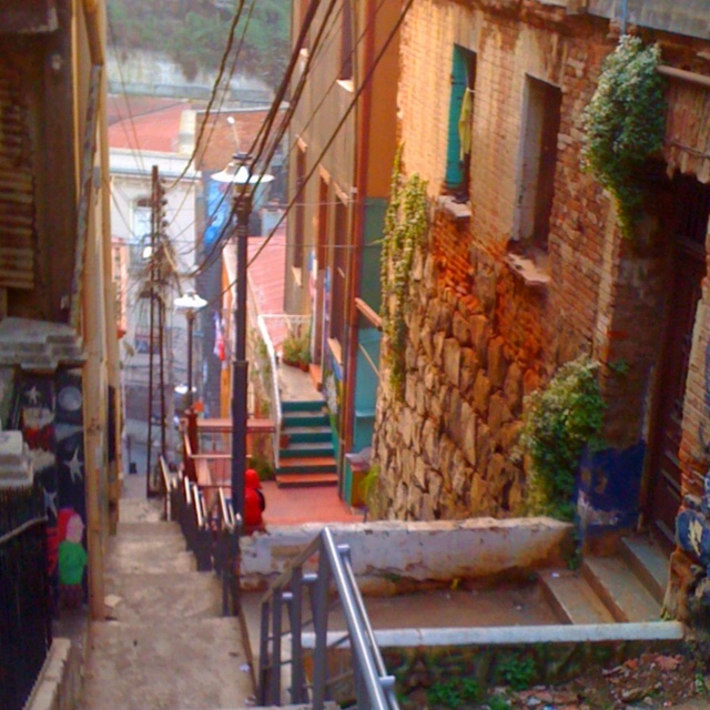 Staircase in Valparaiso, Chile.