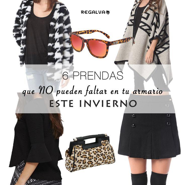 6 prendas que no pueden faltar en tu armario este invierno. Ver ▶ http://regalva.com #capas #ponchos #bolsos #blanco #negro #blusas #faldas #gafasdesol #gafas #moda #outfit #blanco #bolsos #abrigos 