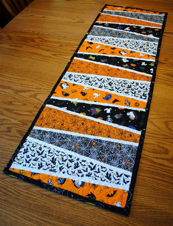 Halloween Tablerunner  Dresden Plate Wedges by cachecreekquilts, $40.00