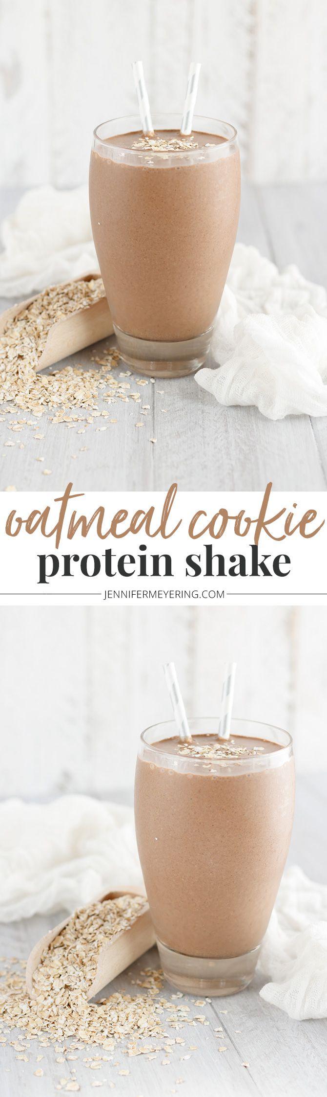 Oatmeal Cookie Protein Shake - JenniferMeyering.com