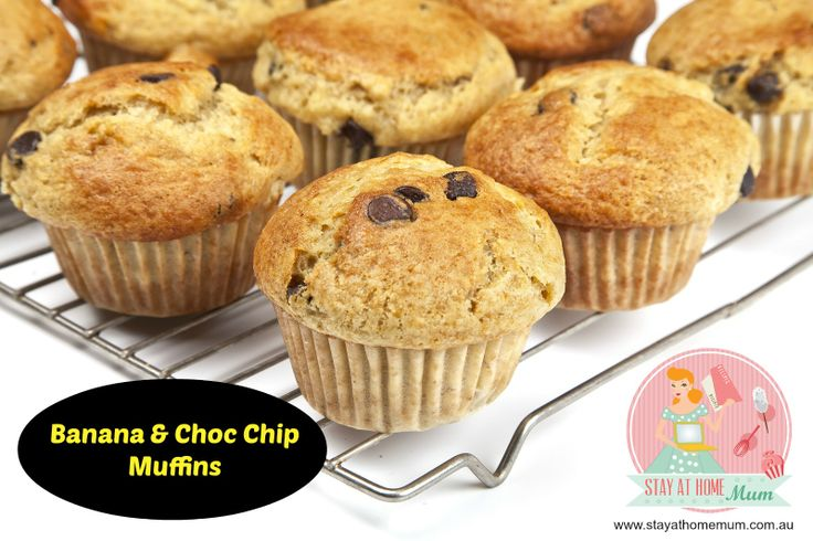 Banana and Choc Chip Muffins | Stay at Home Mum