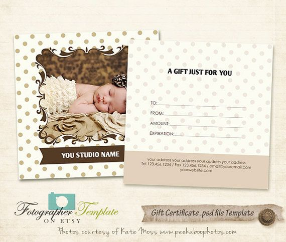 16 best Gift voucher images on Pinterest Gift certificates, Gift - photography gift certificate template