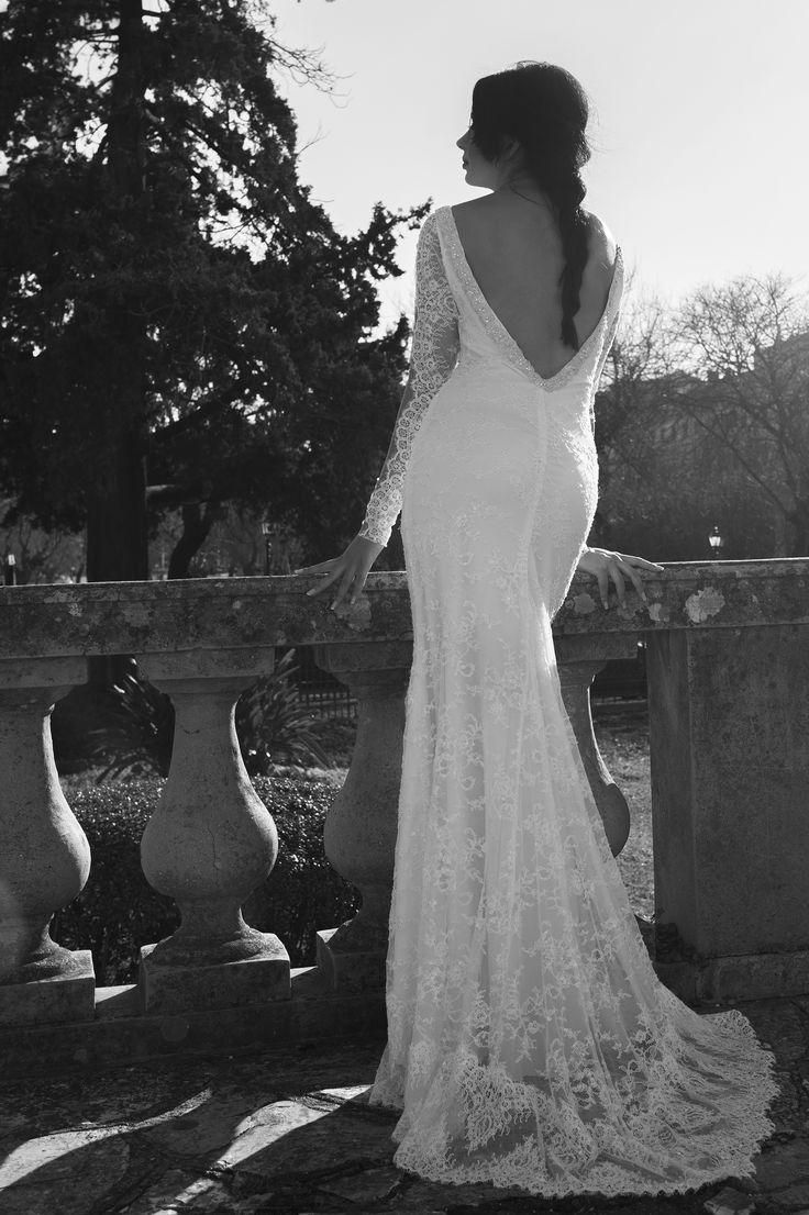 sexy wedding dress by Marianna Kastrinos.
