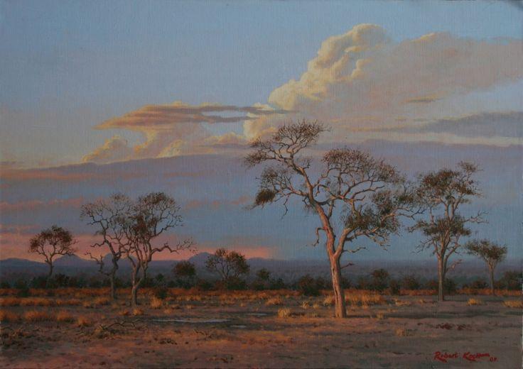 Africa sunset  Oil on canvas  by Robert Koch
