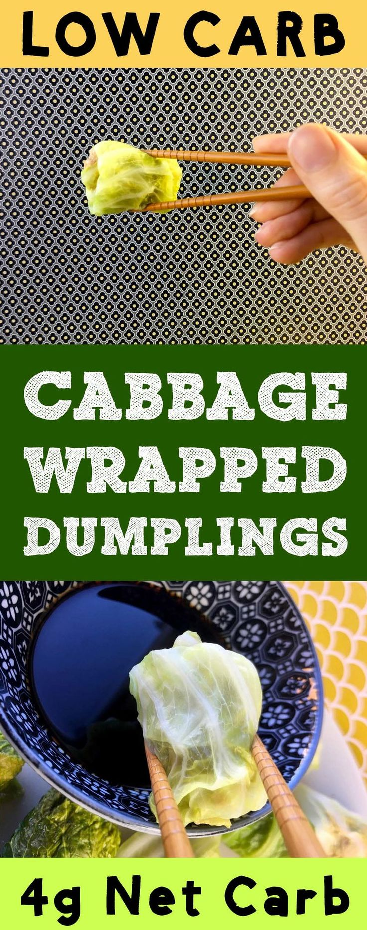 These low carb dim sum dumplings use cabbage for a wrapper, so they've only got 1g net carb per dumpling. They are Atkins, Banting, THM, Whole30, LCHF, Paleo, and Gluten Free.