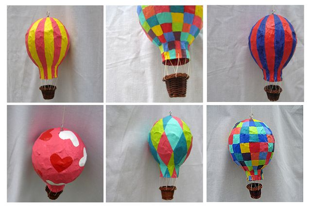 Kalo Make Art Bespoke Wedding Invitation Designs: Hot Air Balloon Love - Papier mache