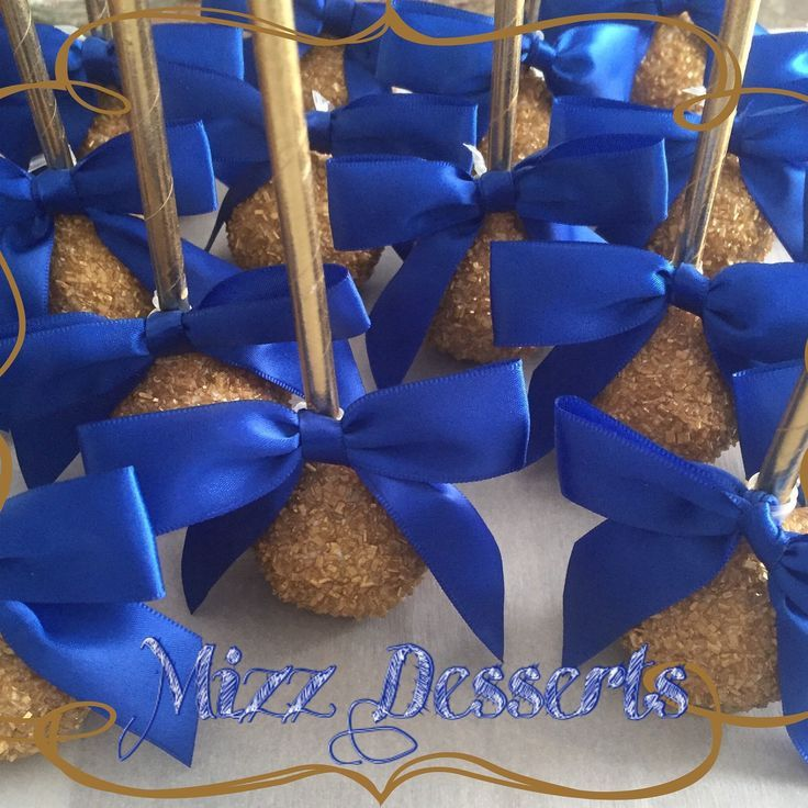 Royal Blue And Gold Wedding Decorations: Royal Blue And Gold Cake Pops
