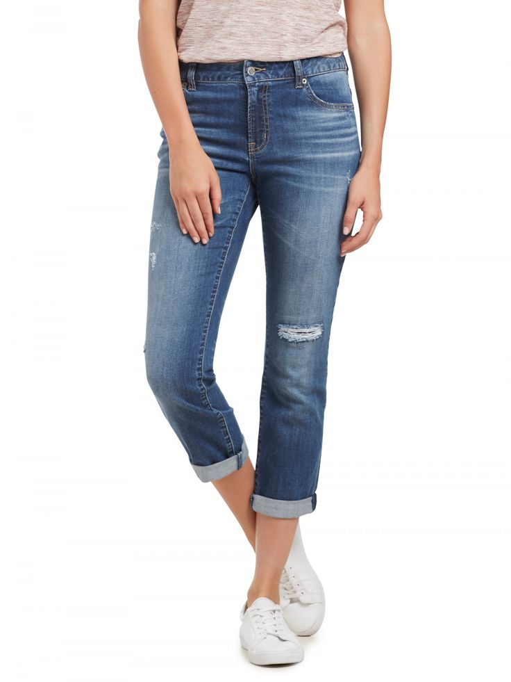 Distressed Relaxed Jean