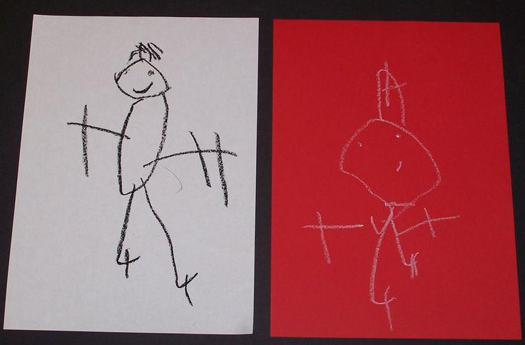 sint en Piet getekend