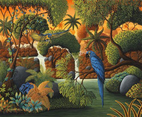Le perroquet bleu © Catherine Musnier