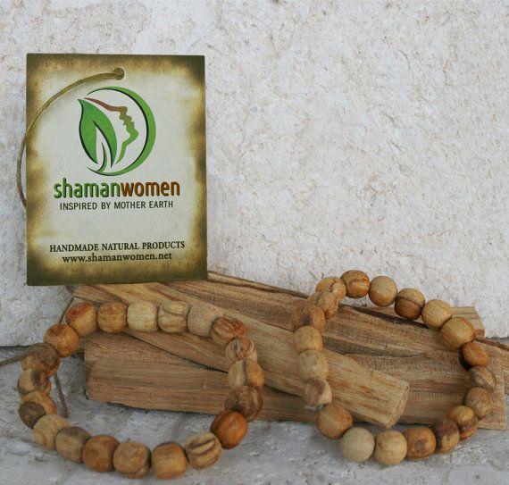 Palo Santo Wood Bracelet  FREE SHIPPING  Energy by ShamanWomen