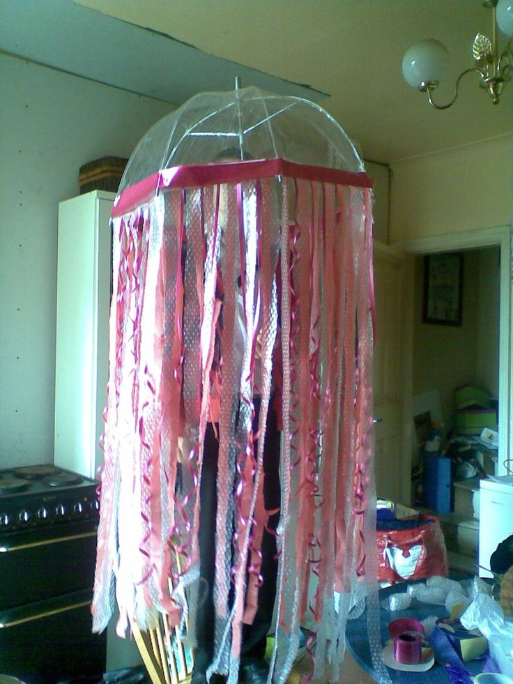 Easy prop idea for jellyfish part.  i already have one similar from Alii's costume one year