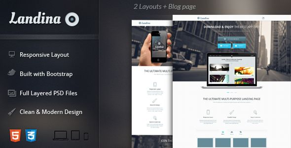 Landina - Responsive Landing Page - Apps Technology