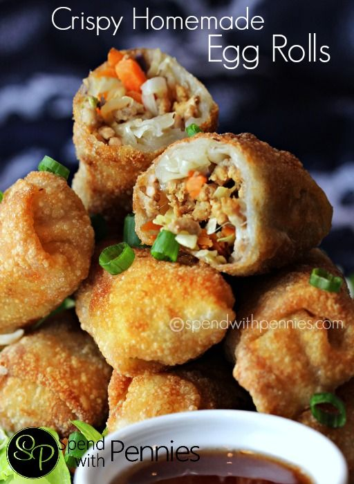 Love it? Pin it to SAVE it! Follow Spend With Pennies on Pinterest for more great recipes! When we go for dinner, egg rolls is one of my favorite things to order! I had NO idea they'd be so easy to make at home! You will be able to make at least 12 egg rolls and possibly more. Chances are that your wrappers come with more than 12 in a package so you should be fine! These egg rolls are  {Read More}