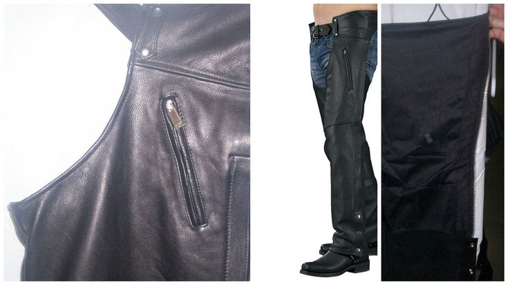 1190 Black Leather Unisex Chaps by AntelopeCreekLeather on Etsy