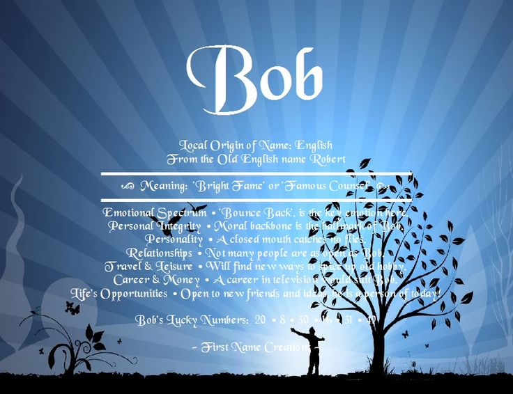 Bob Name Meaning - First Name Creations