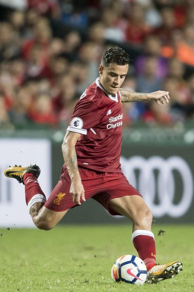 Liverpool FC midfielder Philippe Coutinho in action during the Premier League Asia Trophy match between Liverpool FC and Leicester City FC at Hong Kong Stadium on July 22, 2017 in Hong Kong, Hong Kong.