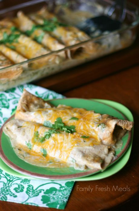Avocado Chicken Enchiladas - Vegetarian Friendly