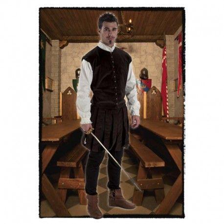 Disfraces medievales hombre   Disfraz de noble hidalgo medieval, compuesto de pantalon bombacho y chaquetilla con camisa blanca interior, decorada con chorreras.  27,95€  #disfraz #medieval #disfraces #medievales #hidalgo #noble #medievo #bombacho #chorreras #edadmedia #edad #media #disfrazmedieval