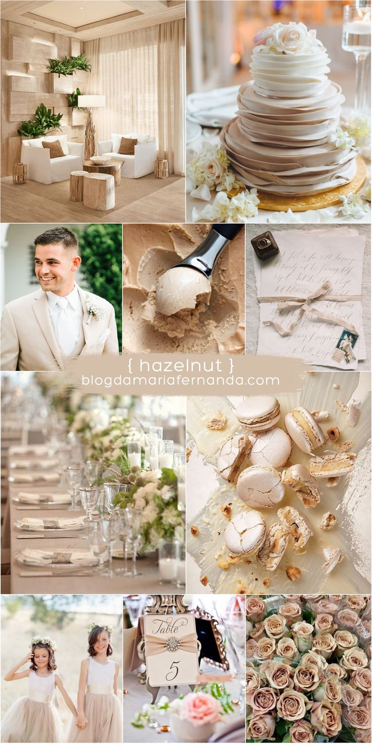 Decoração de Casamento : Paleta de Cores Hazelnut | Blog de Casamento DIY da Maria Fernanda