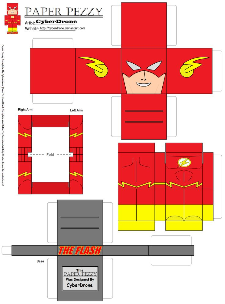 Paper Pezzy- The Flash by CyberDrone.deviantart.com on @deviantART
