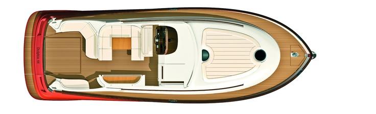 Main deck - Mochi Craft - Dolphin 44' #yacht #luxury #ferretti #mochi