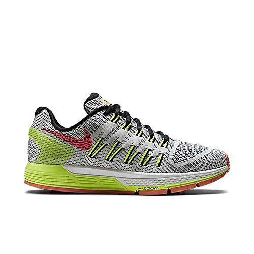 Nike Women s Air Zoom Odyssey White Black Volt Hyper Orange Running Shoe 8 c6273ccb2