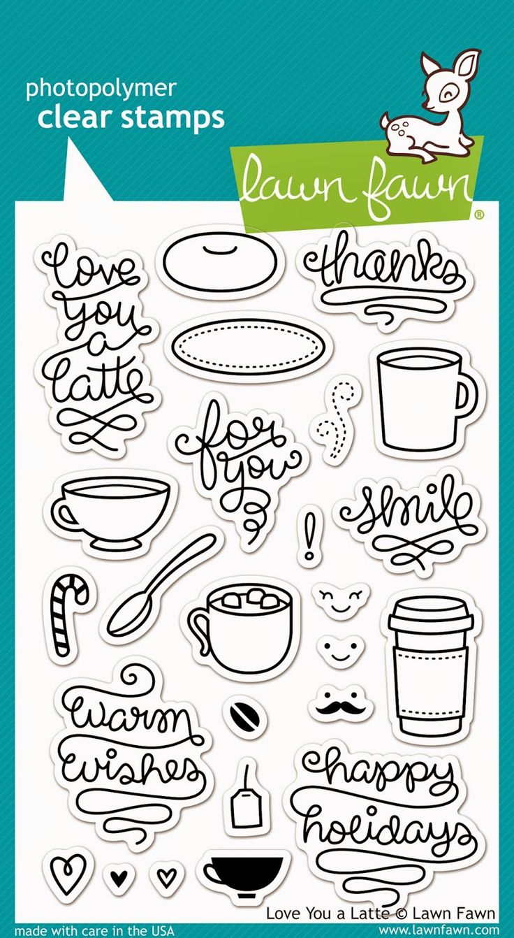 the Lawn Fawn blog: Fall/Winter 2014 Sneak Week - Day 4- Love You A Latte stamp set.