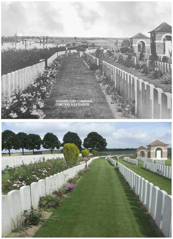 Dernancourt Military Cemetery, France.