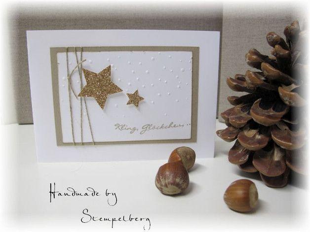 Wunderschöne, handgefertigte Weihnachtskarte in der Größe 10,5 x 14,8 cm. Zur Karte gehört ein passender Umschlag.  Gerne können auch mehrere Karten angefertigt werden. Bitte vor Kauf kurz...